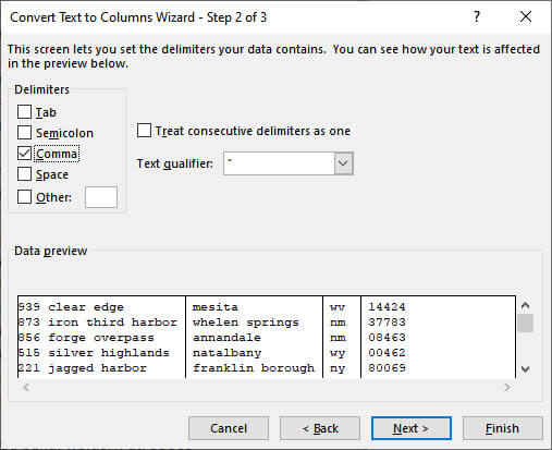 Text to Columns Function, Part 2
