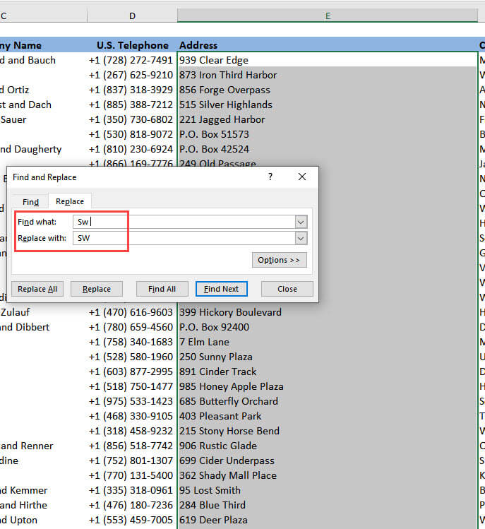 How to Clean Data in Excel - Direction Abbreviations, Part 2
