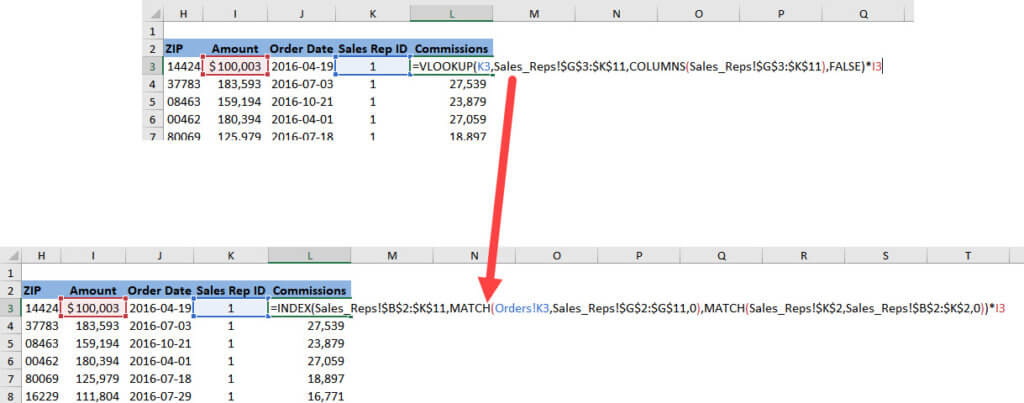 Rewriting a VLOOKUP Function