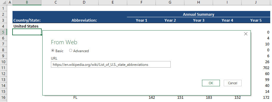 Data URL in Power Query