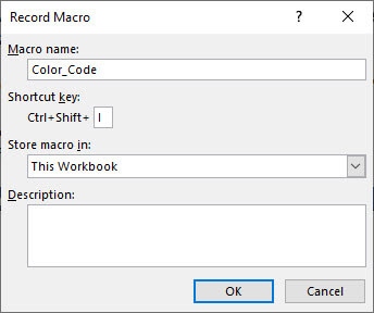 Excel VBA Programming - Macro Shortcut Key Assignment